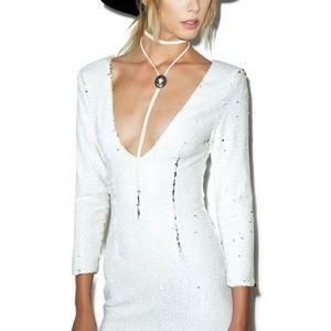 f96c8fdb669962 Tiger Mist White Sequin Dress